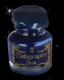 Kalligraphie-Tinte im Glas, blau (30 ml)