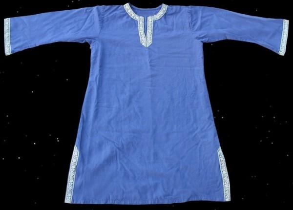 Tunika Mittelalter Frühmittelalter blau