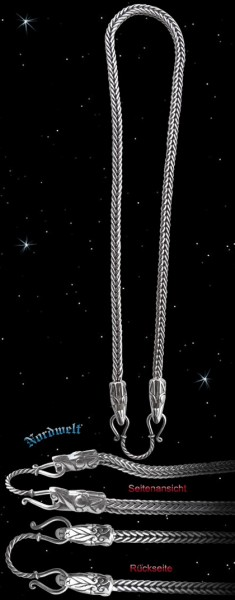 "Wikinger Königskette ""Jörmungandr"" 925er Silber Halskette Wikinger byzantinische Kette"
