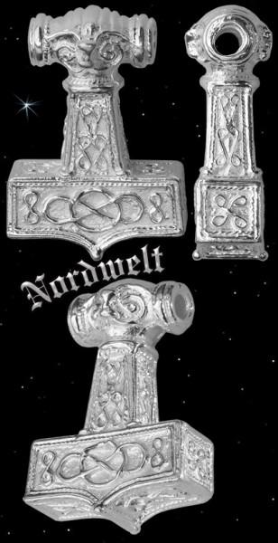 Ostergötland Thorhammer - 925er Silber Thors Hammer