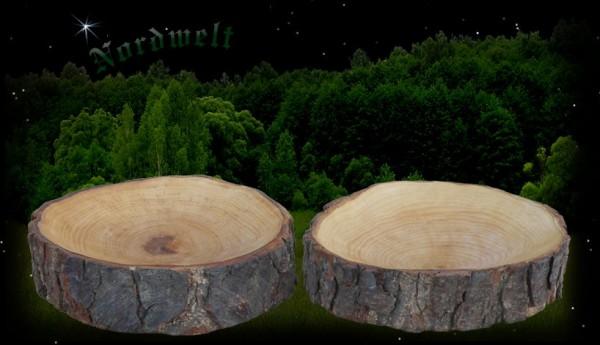 mittelalterliche Holzschale aus Astscheibe Nostalgie Mittelalter Schale Teller aus Holz