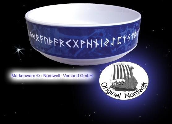 Runen Porzellanschale 24er Futhark Schale mit Runenreihe