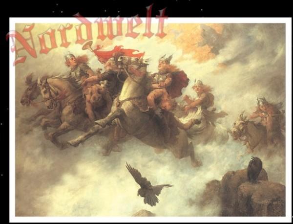 Ritt der Walküren Valkyria Odins Jungfrauen Poster Kunstdruck
