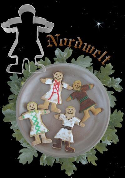 Teigform Ausstechform Ausstecher Kekse Brauchtum Symbolgebäck backen Wikinger Maid Recke Tunika Fruchtbarkeitssymbol
