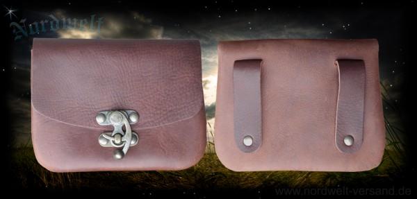 Braune Gürteltasche Hakentasche Mittelalter Tasche