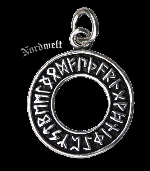 Runen Anhänger Futhark 925er Silber