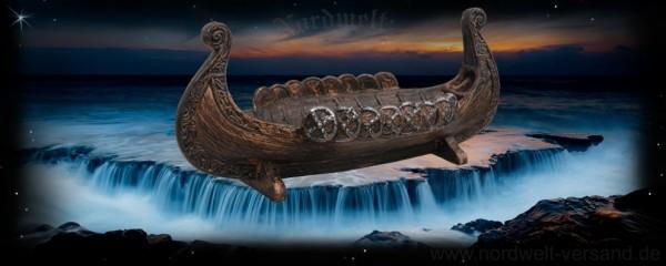 Wikingerschiff kleine Schale Dekoration für das Wohnzimmer Langschiff der Nordmänner