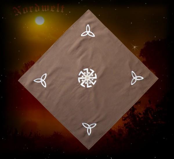 Kolovrat Tischdecke mit Triqueta Symbol Sonnerad Sonnensymbol