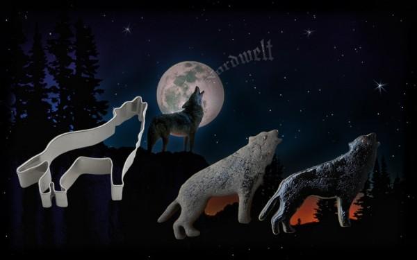 "Teigform ""Wolf / Fenris"", Edelstahl"