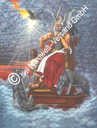 Allvater Wotan /Wodan /Odin Poster