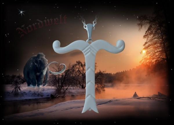 Mammut- Elfenbein Irminsul Anhänger Elfenbeinschmuck Yggdrasil Weltenesche