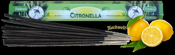 Räucherstäbchen Zitrone Citronella Incense Sticks Zitronen- Duft räuchern gegen Mücken
