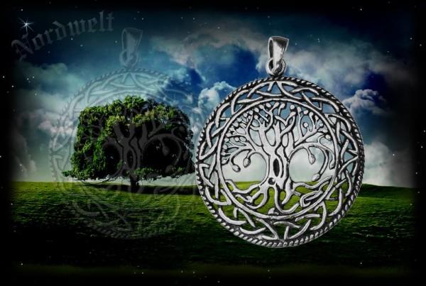 Lebensbaum Weltenesche Yggdrasil Anhänger 925er silber