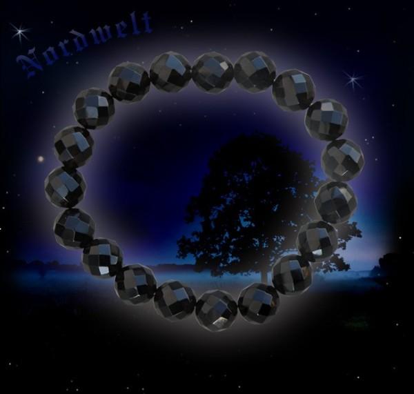 Rauchquarz Armband facettiert schöner schwarzer Gothik- Schmuck