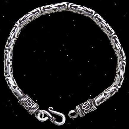 Elegante Armkette (Königskette) - 925er Silber