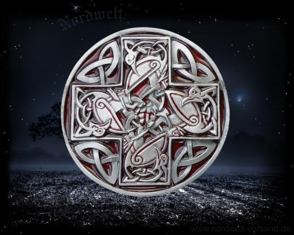 Gürtelschnalle keltischem Kreuz Tiermotiven Gürtelschließe Keltenkreuz keltisch Buckle