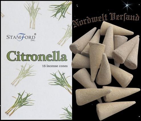 Räucherkegel Zitrone Räucherkerzen Citronella Räucherhütchen Citronella Stamford