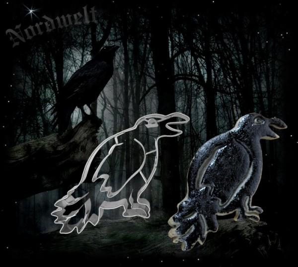 Teigform Rabe Ausstechform Wotan Wodan Odin Raben Hugin und Munin Symbolgebäck
