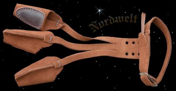 Bogenhandschuhe aus Wildleder traditioneller Bogensport Handschuhe für Bogen schießen