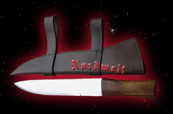 Wikinger Sax Messer mit Lederscheide