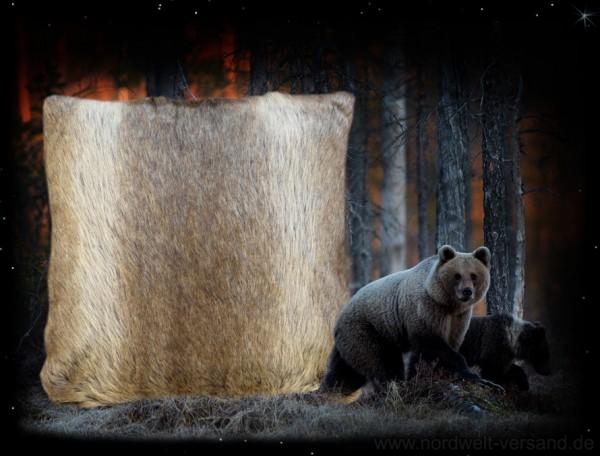Kissen Bärenfell / Bärenfellkissen aus Acryl
