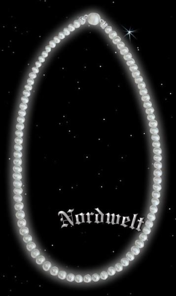 Süsswasserperlen echte Perlen Kette Magnetverschluss Silber