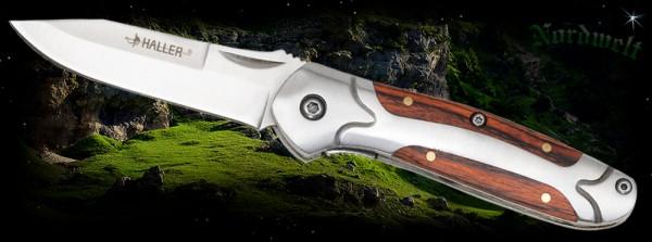 Taschenmesser Arbeitsmesser Reisemesser Messer mit Holzeinlage Geschenkidee