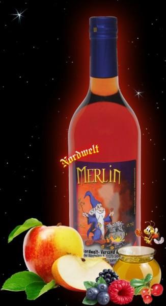 Met Honigwein Merlins Zauber mit 25 % Apfelsaft und Waldbeersaft