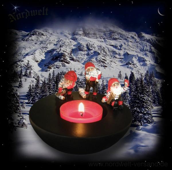 Julfest Jul- Zwerge Teelichhalter Brauchtum zur Julfeier Weihnachten