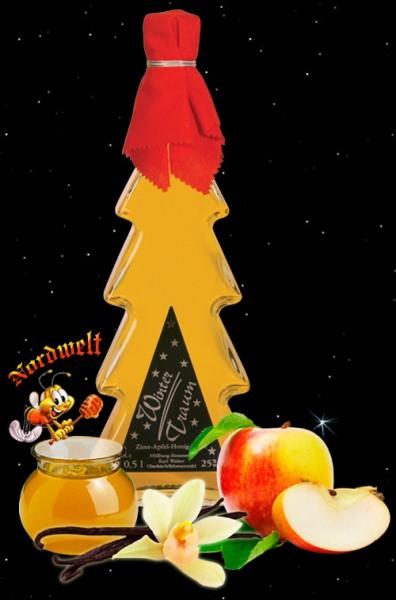 Honig-Likör mit Apfel und Zimt Julfest Julfeier Getränke Honiglikör