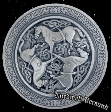 Pferde Zubehör Gürtelschnalle keltische Motive Gürtelschließe Pferdchen