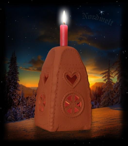 Julleuchter / Turmleuchter / Brauchtumsleuchter, natur-Keramik