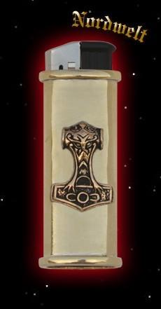 """Feuerzeughülle """"Thorhammer/ Mjölnir"""" , bronze (mit Feuerzeug)"""
