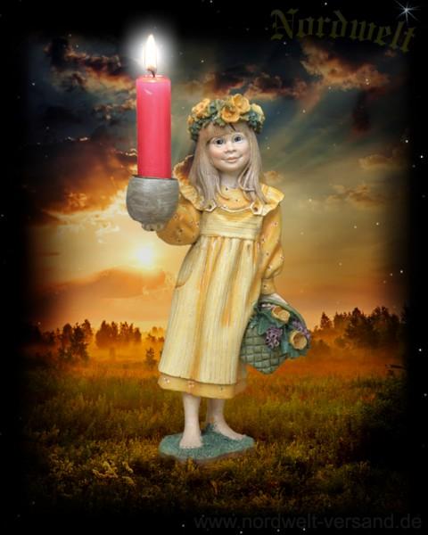 Sommersonnenwende Kerzenhalter Figur Sommer- Maid zur Sonnenwende Statue Skuptur