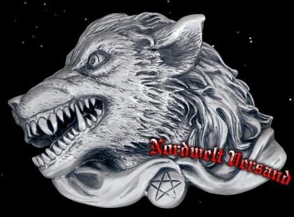 Buckles Gürteslchnalle Mannwolf Werwollf Weerwolf Gürtelschließe