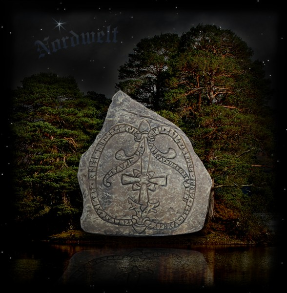 Jarlabankes Bro- Runenstein Menhir Gedenkstein mit Runen