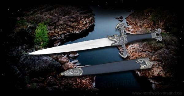 Barbaren Dolch Phantasie Messer mit Drachen