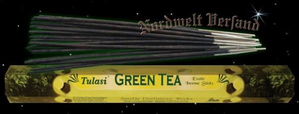 Räucherstäbchen grüner Tee Tulasi räuchern Räucherkegel und Räucher Zubehör