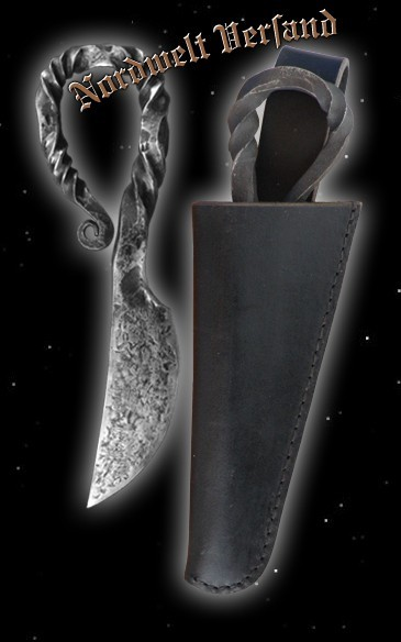Damenmesser mit schwarzer Lederscheide