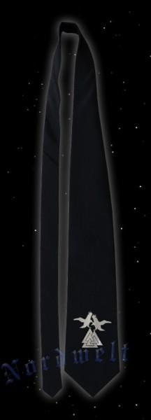Krawatte mit silberfarbenem Wotansknoten
