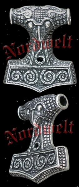 Skane Rabenkopf Thorhammer - 925er Silber