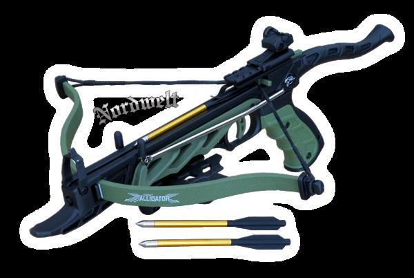 Armbrust Alligator I taktische Armbrsutpistole 80 lbs schwarz / grün