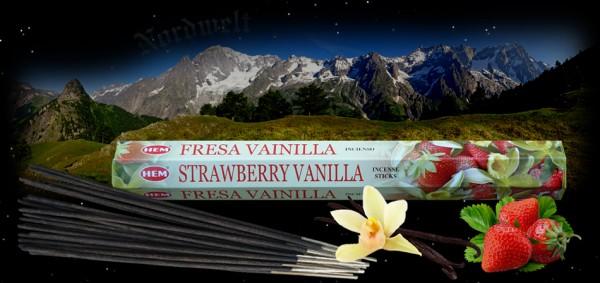 Räucherstäbchen Erdbeere Vanille Hem Strawberry Vanilla Incense