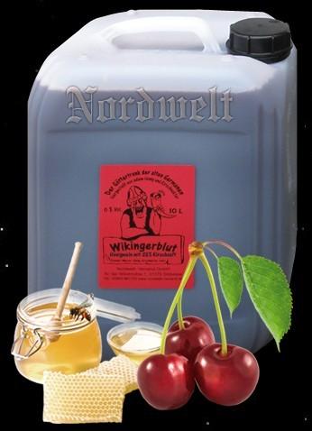 Honigwein mit Kirschsaft 10 Liter Kanister Met Mischgetränk aus Honig- Wein