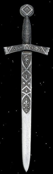 Mini-Schwert, Brieföffner, aus Zinn