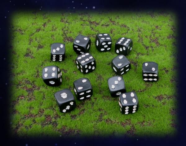 Würfel mit Totenköpfen Skull Würfel Totenkopf gothik Spiel Totenkopfspiel Würfelspiel schwarz