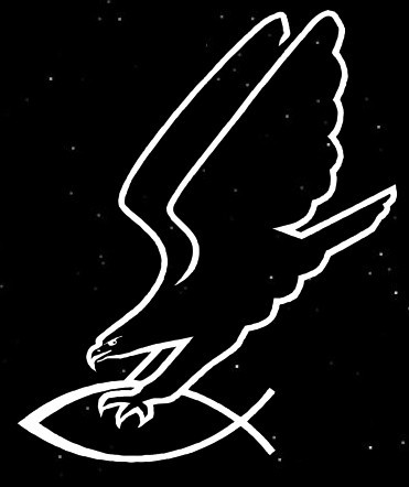 Antichrist Adler greift Fisch Aufkleber Autoaufkleber heidnische Symbole