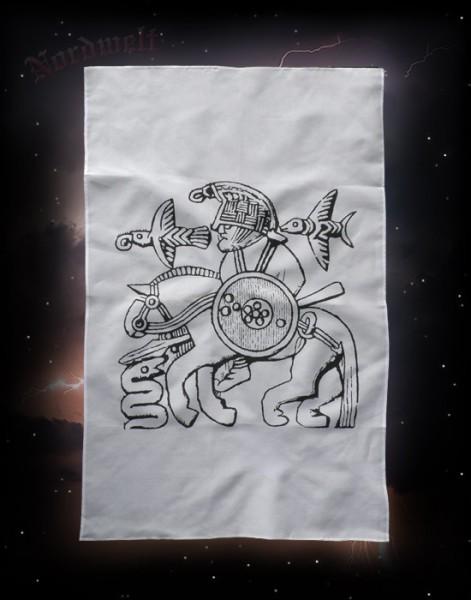 Wodan auf Sleipnir Odin Göttervater Poster Stoffposter Wotan