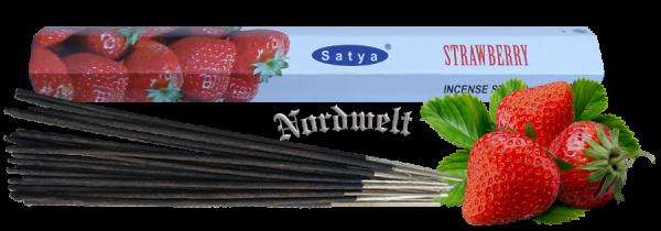 Räucherstäbchen Erdbeere Strawberry Satya Räucher- Stäbchen Duft Erdbeeren