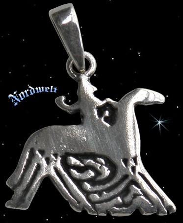 Odin auf Sleipnir silber Anhänger Bildstein von Tjängvide aus Gotland Wodan Wotan
